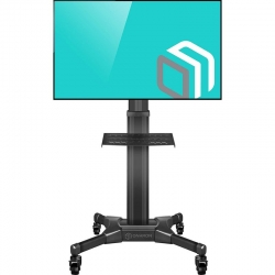 Mobile stand for TV with shelf ONKRON TS2551 black